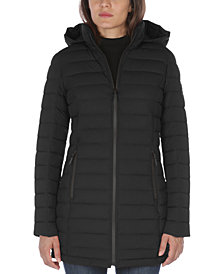 Nautica Hooded Stretch Packable Puffer Coat