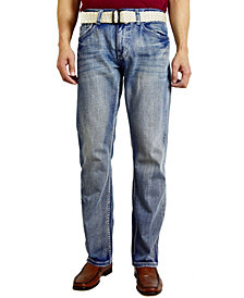 Flypaper Men's Fashion Regular Fit Straight Leg Jeans