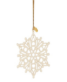 Lenox 2020 Golden Snow Fantasies Snowflake Ornament