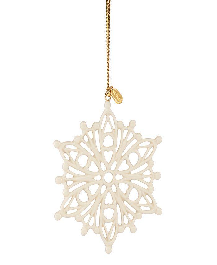 Lenox - 2020 Golden Snow Fantasies Snowflake Ornament