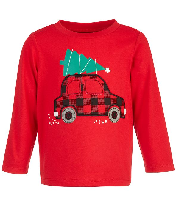 First Impressions Baby Boys Holiday Car T-Shirt, Created for Macy's