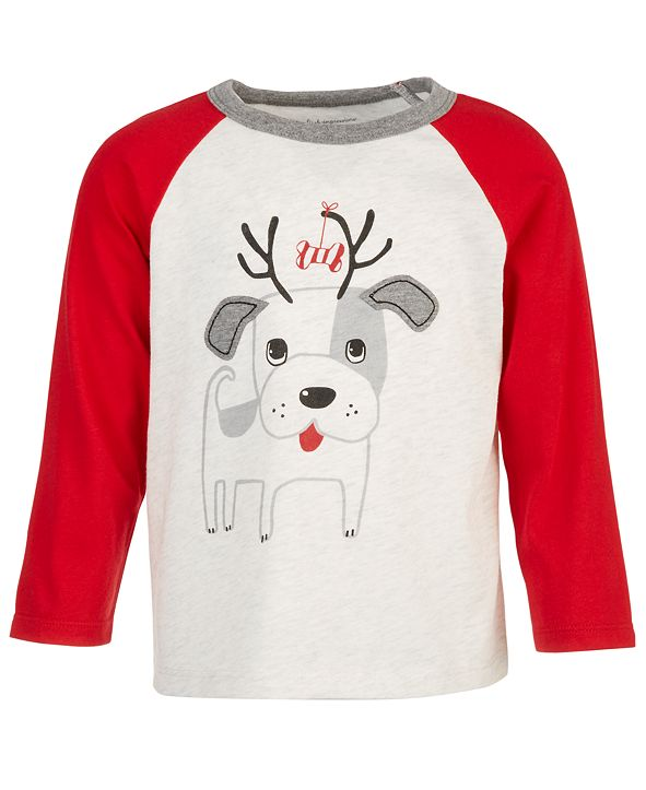 First Impressions Baby Boys Doggie Reindeer T-Shirt, Created for Macy's
