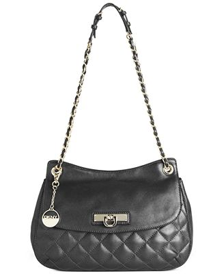 Dkny Quilted Nappa Flap Shoulder Bag 26