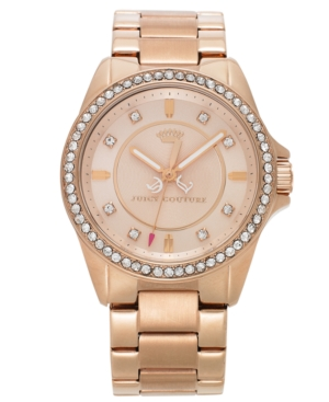 Juicy Couture Watch, Women's Stella Rose Gold-Tone Stainless Steel Bracelet 38mm 1901077