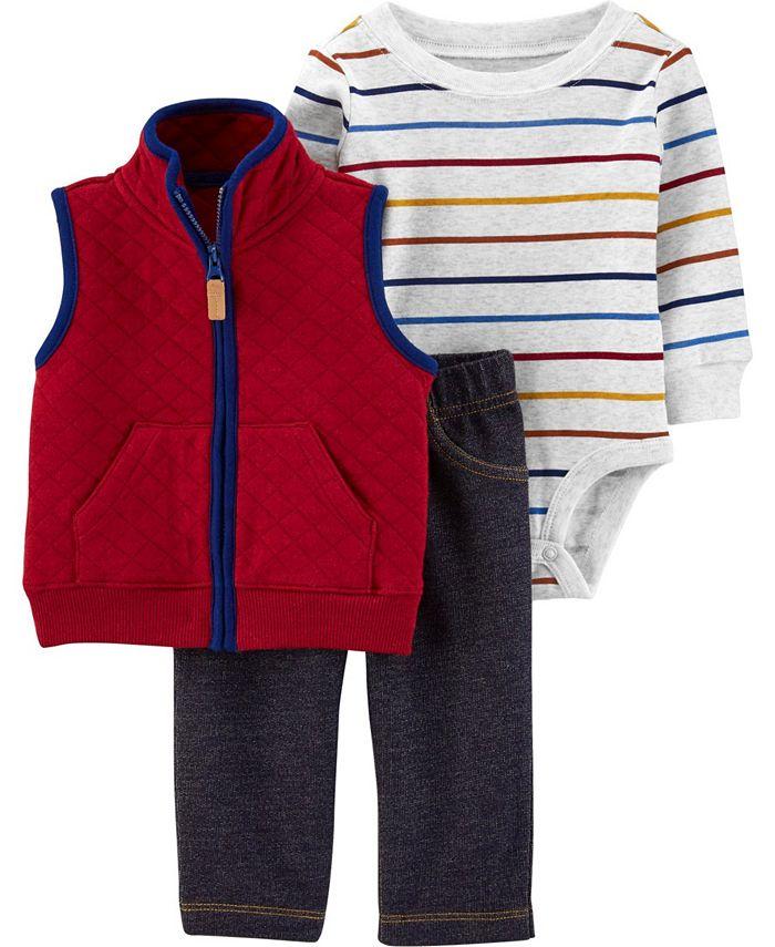 Carter's - Big Boy 3-Piece Little Vest Set