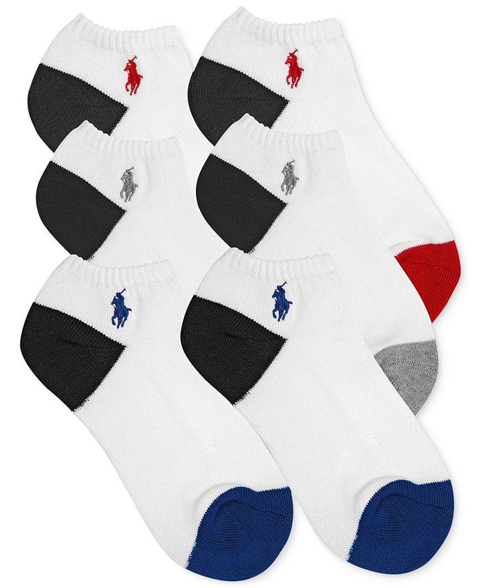Polo Ralph Lauren - Boys' or Little Boys' 6-Pack Color-Blocked Sports Socks