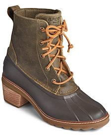 Sperry Women's Saltwater Block-Heel Duck Boots