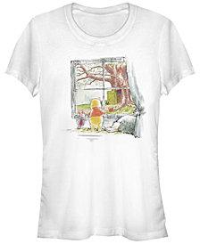 Fifth Sun Women's Winnie the Pooh Winnie Window Short Sleeve T-shirt