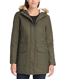 Levi's® Trendy Plus Size Faux-Fur-Trim Parka