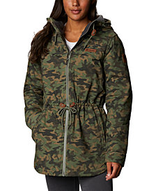 Columbia Women's Chatfield Hill Plaid Fleece-Lined Utility Jacket