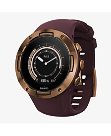 Suunto 5 Men's Burgundy Copper Silicon Strap Compact GPS Sports Watch, 46mm