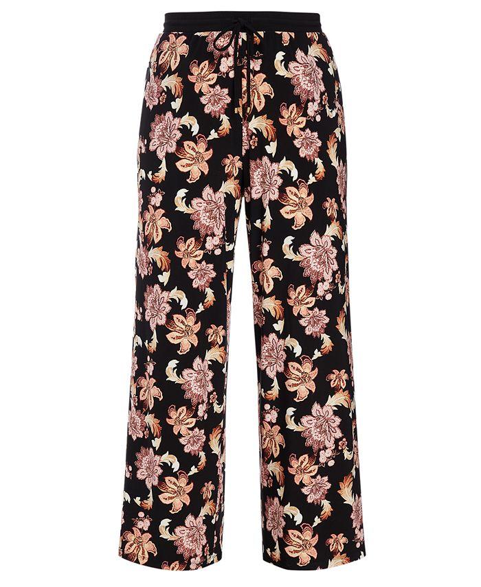 Lauren Ralph Lauren - Tropical Print Wide-Leg Pants