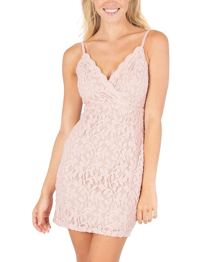 Speechless - Juniors' Glitter Lace Bodycon Dress