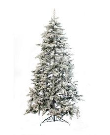 Perfect Holiday 7.5' Alpine Spruce Snow Flocked Christmas Tree