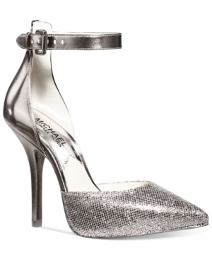 Michael Michael Kors Shoes, Brenna Ankle Strap Evening Pumps Women's Shoes Icon