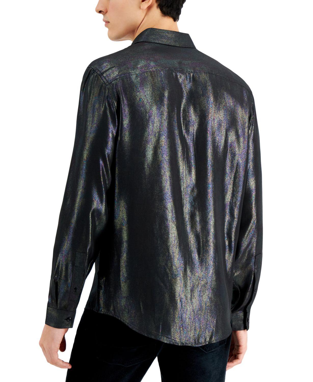 INC International Concepts INC Men's Zenith Iridescent Shirt, Created for Macy's & Reviews - Casual Button-Down Shirts - Men - Macy's