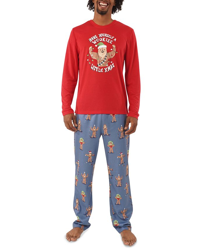 Munki Munki - Men's Star Wars Holiday Chewbacca Pajama Set