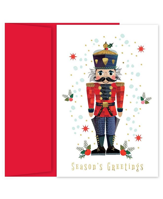 Masterpiece Cards the Nutcracker Holiday Boxed Cards, 18 Cards and 18 Foil Lined Envelopes