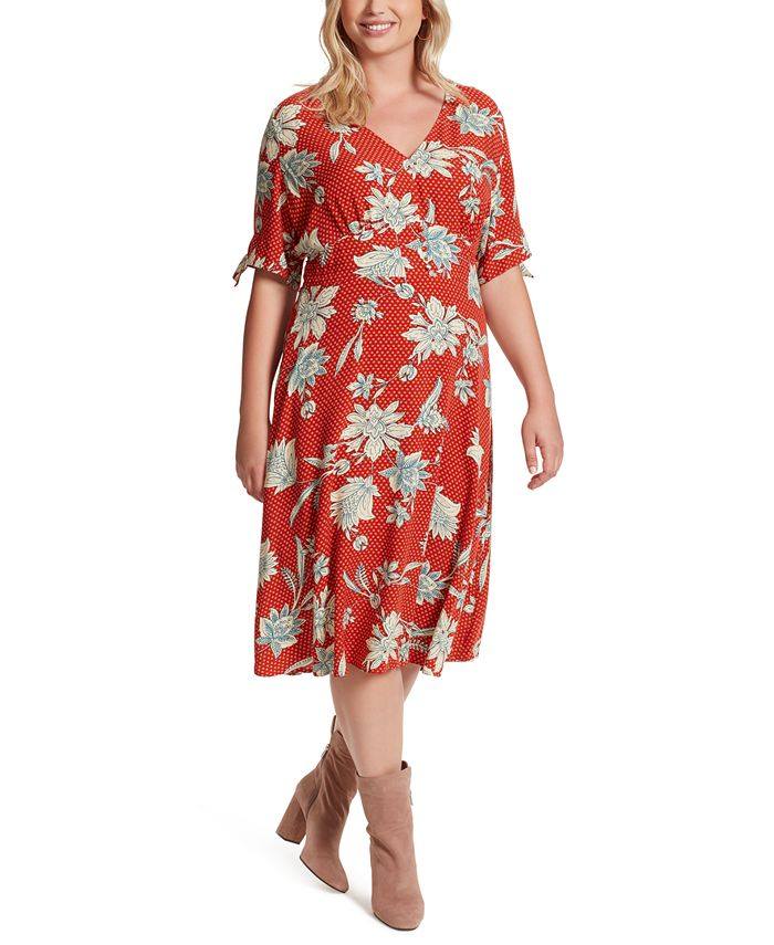 Jessica Simpson - Trendy Plus Size Printed A-Line Dress