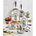 Belgique Stainless Steel 12-Piece Cookware Set