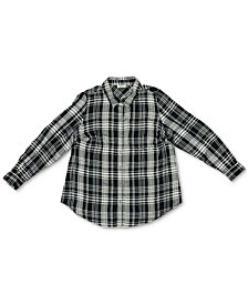 Style & Co Petite Plaid Utility Shirt, Created for Macy's