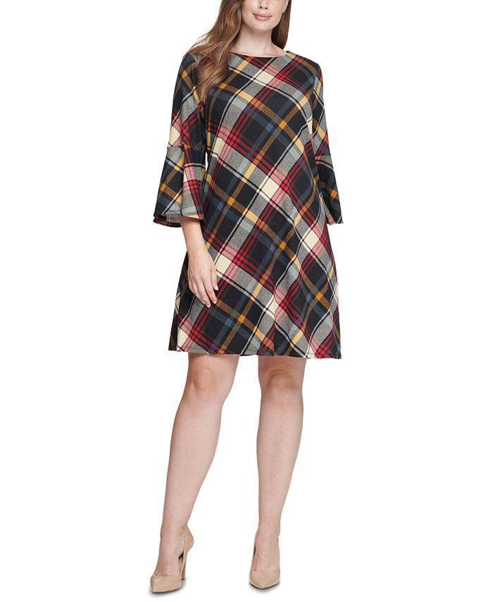 Jessica Howard - Plus Size Plaid A-Line Dress