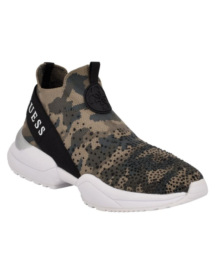 GUESS Women's Bellini Stretch Knit Sneakers & Reviews - Athletic Shoes & Sneakers - Shoes - Macy's