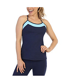 American Fitness Couture Racerback-Y Top Built in Bra