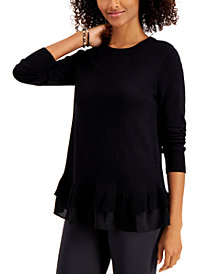 Style & Co Plus Size Chiffon-Hem Tunic, Created for Macy's