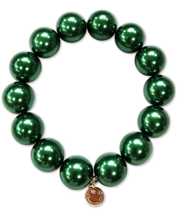 Charter Club Gold-Tone Imitation Pearl Stretch Bracelet, Created for Macy's & Reviews - Bracelets - Jewelry & Watches - Macy's
