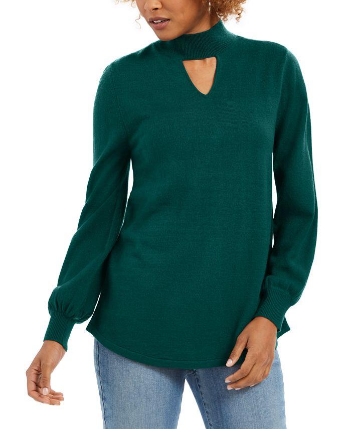 Style & Co - Long-Sleeve Tunic Sweater