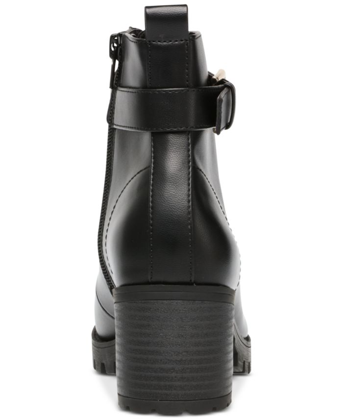 Wild Pair Hillari Lug-Sole Hiker Booties, Created for Macy's & Reviews - Boots - Shoes - Macy's