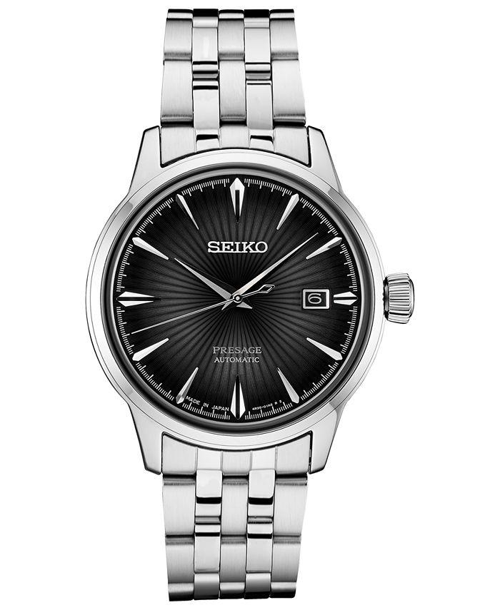 Seiko - Men's Automatic Presage Stainless Steel Bracelet Watch 40mm