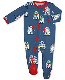 Matching Baby R2-D2 Holiday Wreath Family Pajamas