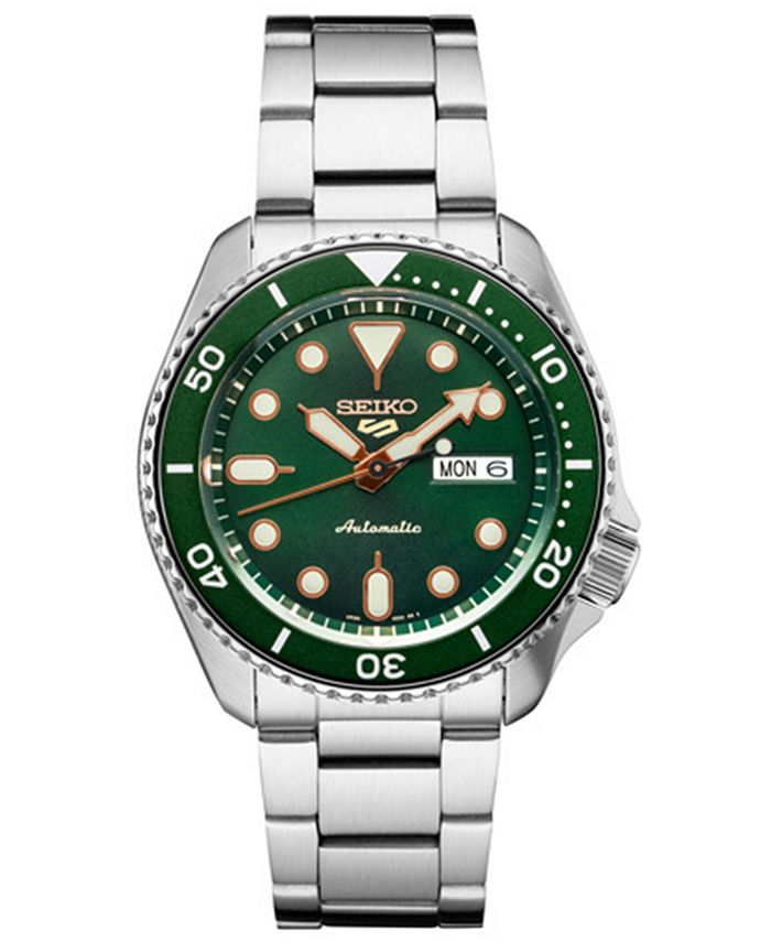 Seiko - Men's Automatic Stainless Steel Bracelet Watch 40mm