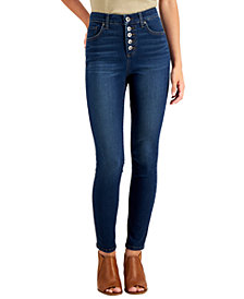 Style & Co Plus Size Tummy Control Button-Fly Jeans, Created for Macy's
