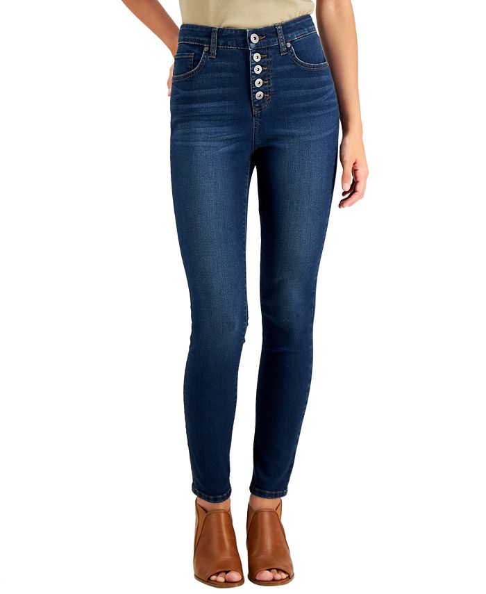 Style & Co - Plus Size Tummy Control Button-Fly Jeans