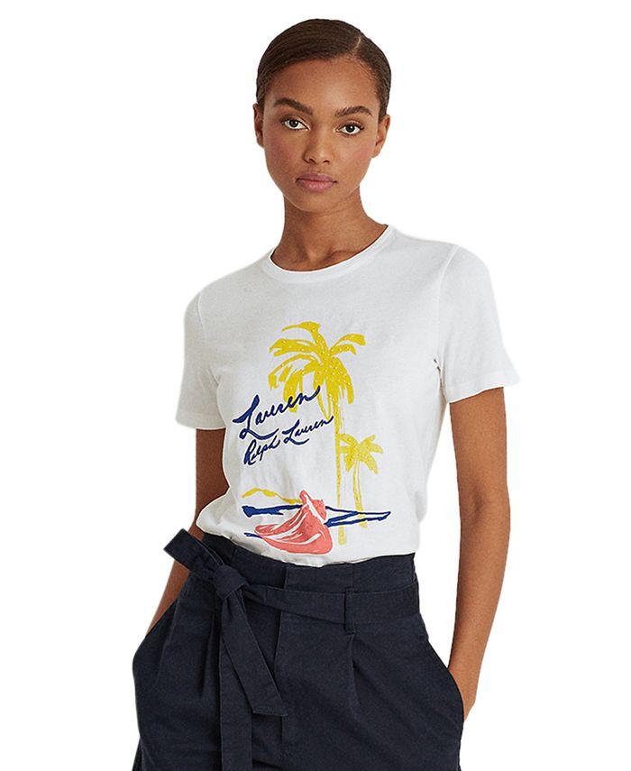 Lauren Ralph Lauren - Print Cotton-Blend T-Shirt
