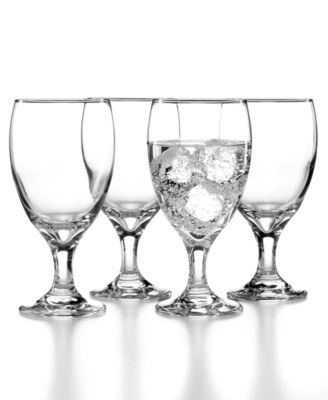 The Cellar Everyday Set of 4 Footed Beverage Glasses