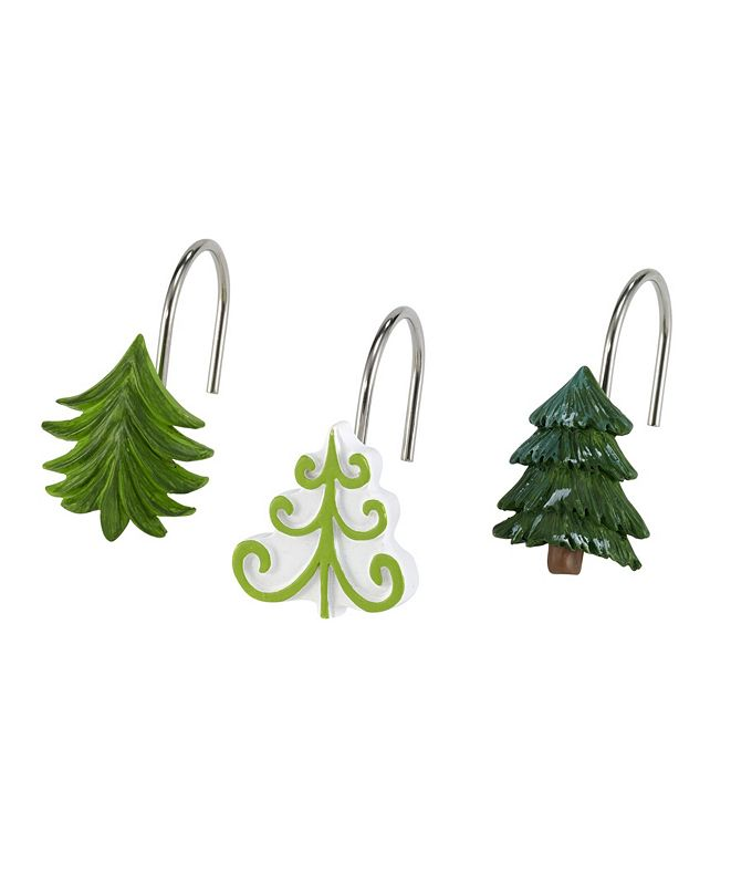 Avanti Christmas Trees Shower Hooks