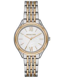 Michael Kors Women's Mindy Two-Tone Stainless Steel Bracelet Watch 36mm