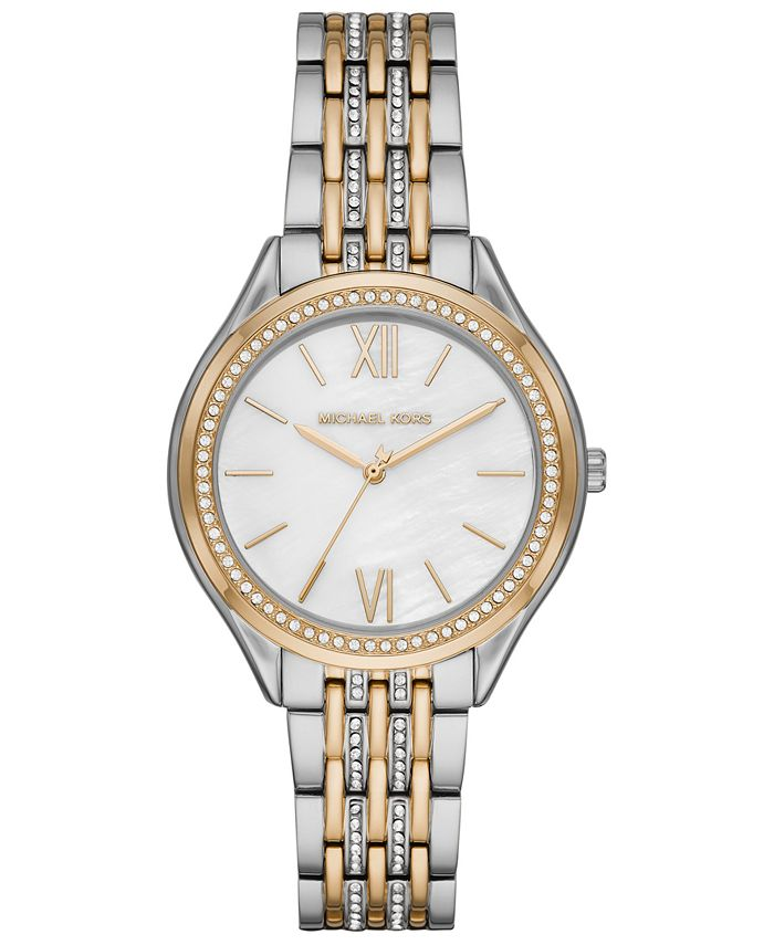Michael Kors - Women's Mindy Two-Tone Stainless Steel Bracelet Watch 36mm