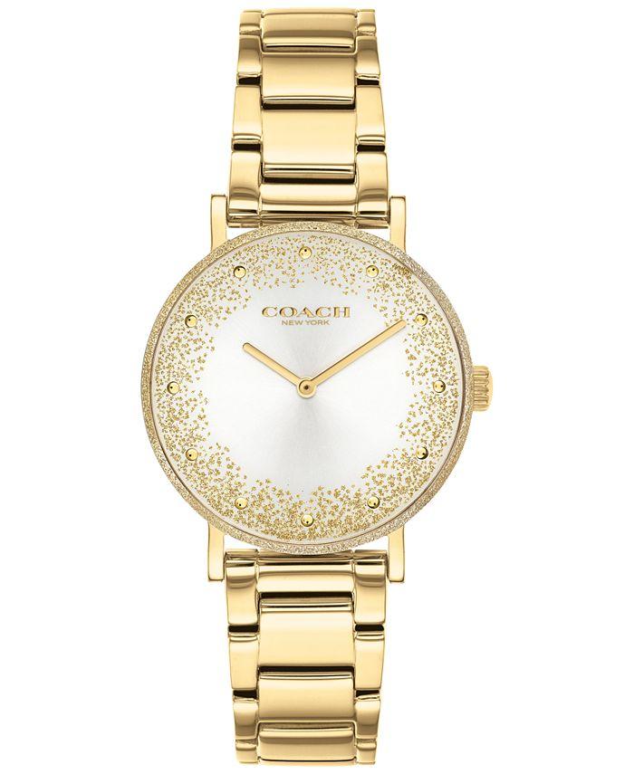 COACH - Women's Perry Gold-Tone Bracelet Watch 28mm