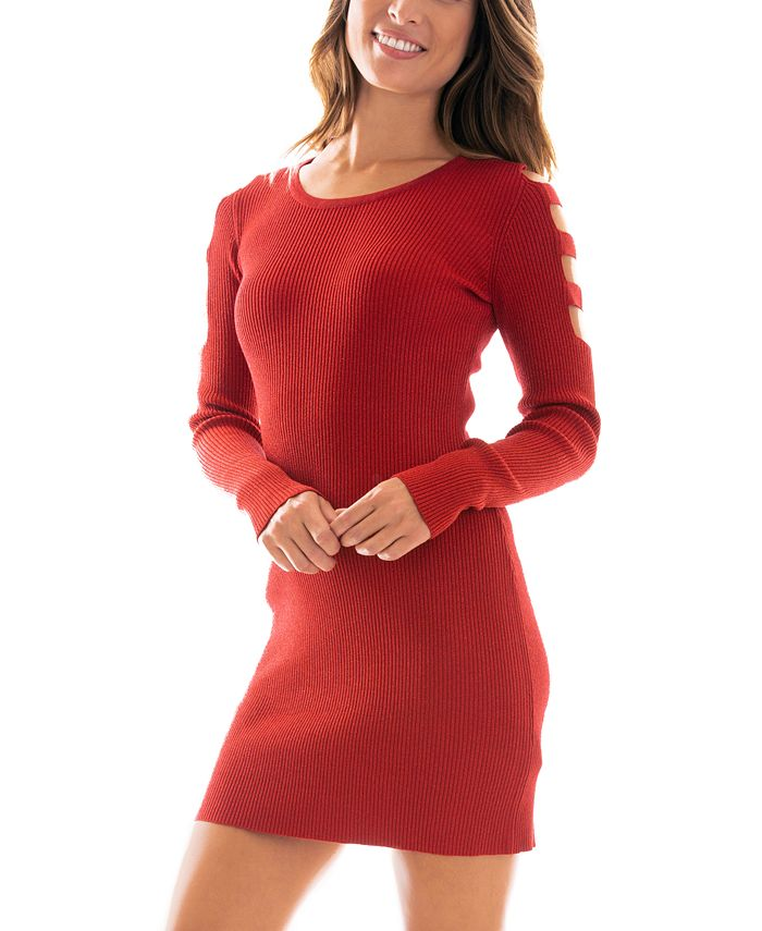BCX - Juniors' Ribbed Sweater Dress