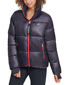 Tommy Hilfiger Sport Cropped Puffer Thumbhole Coat
