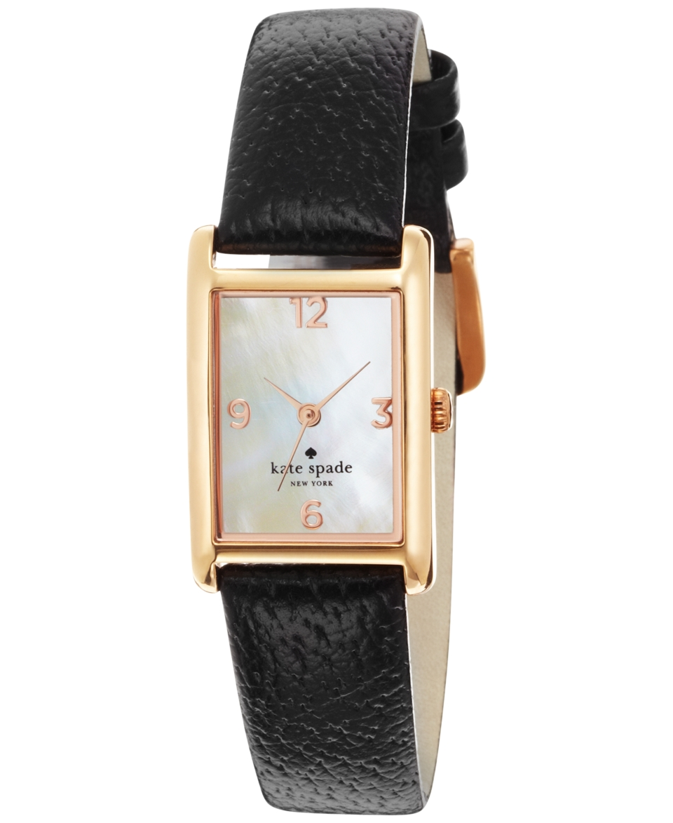 kate spade new york Watch, Womens Cooper Black Leather Strap 32x21mm 1YRU0043   Watches   Jewelry & Watches