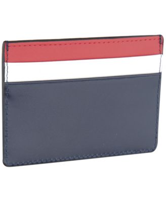 Men's Colorblocked Nappa Leather Card Case