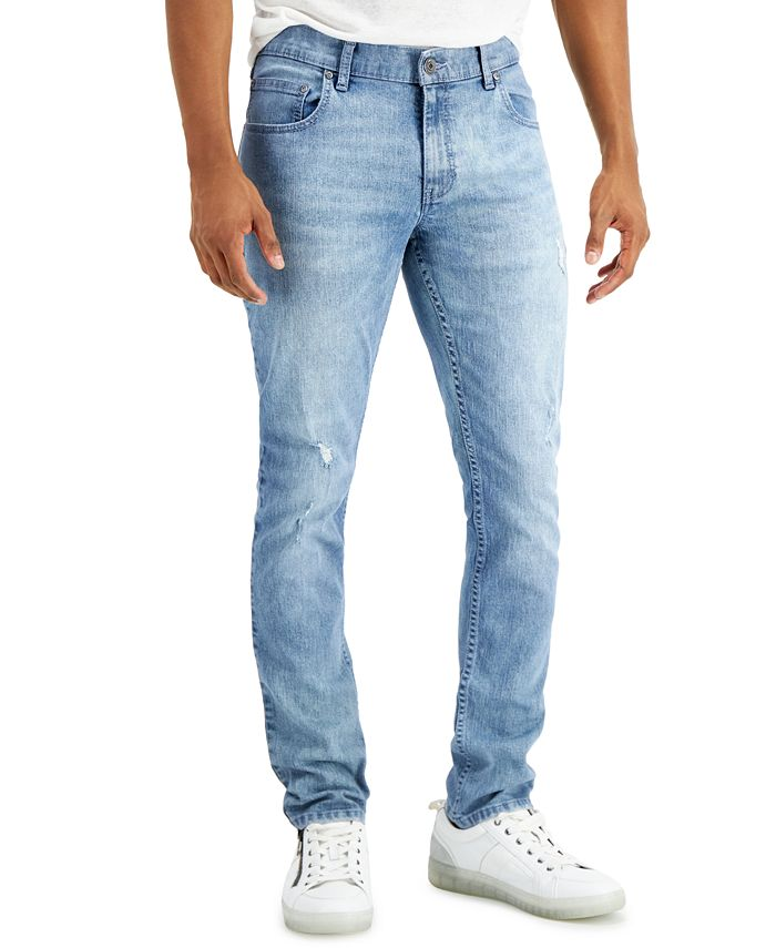 INC International Concepts - Men's Skinny Core 4 Ripped Jeans