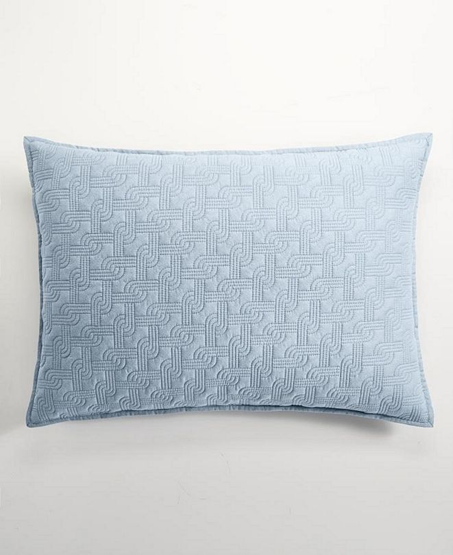 Hotel Collection Parallel Quilted Standard Sham, Created for Macy's