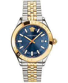 Versace Men's Swiss Hellenyium Two-Tone Stainless Steel Bracelet Watch 42mm